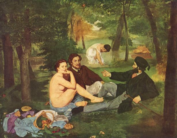 Édouard Manet: Das Frühstück im Grünen, 1863
